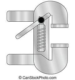 Table press wrench - Illustration of table metal pressing...