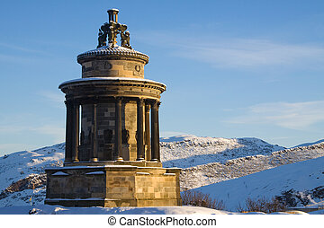Burn's Monument and Holyrood Park - Burns Monument, Calton...