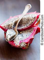 Pitahaya - Fresh, delicious pitahaya, dragon fruit. Studio...