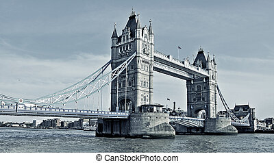 Tower Bridge in London, United Kingdom - a view of Tower...