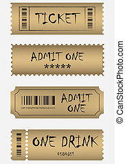 Various golden ticket set
