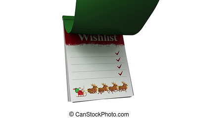 Christmas wishlist with santa