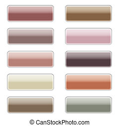 High gloss web buttons in stylish colors