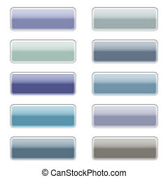 High gloss web buttons in cool colors