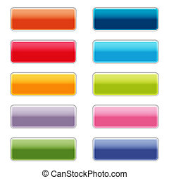 High gloss web buttons in bright colors