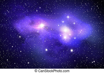 Colorful space nebula ( abstract background )