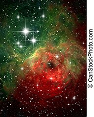 Colorful space nebula abstract background