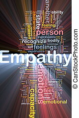 Empathy background concept glowing - Background concept...