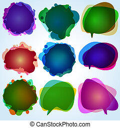 Color speech bubbles collection