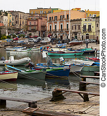 old italian harbour
