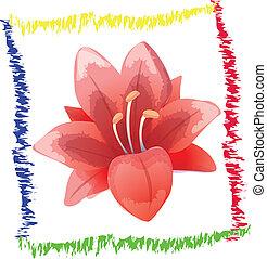 Red Flower Art