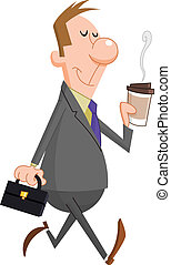 Businessman with coffee - Businessman with paper coffee cup