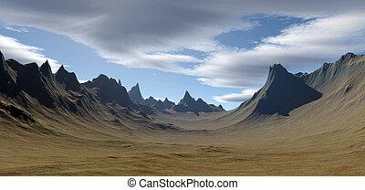 3D rendered landscape fantasy background