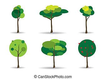Green Trees Vector Illustration