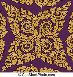 Seamless pattern baroque
