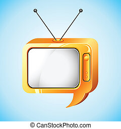 Television Speech Bubble