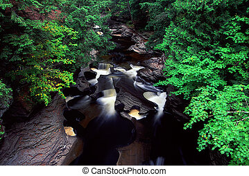 Presque Isle River - Michigan - Beautiful rapids on the...