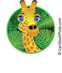 Giraffe cartoon character