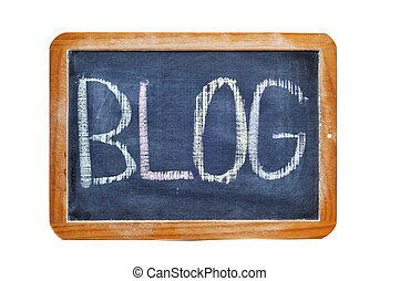 blog - word blog written with chalk on a blackboard