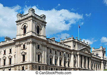 HM Treasury headquarters in London, United Kingdom - a view...
