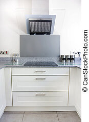 modern kitchen hob and extractor fan - modern kitchen with...