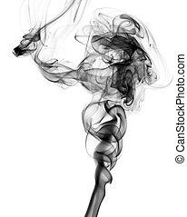 Black Abstract smoke pattern on white - Black Abstract smoke...