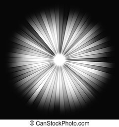 Light Beams on black: shining star