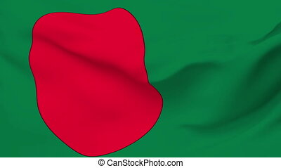Flag of Bangladesh - Flag of the Bangladesh waving in the...