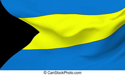 Flag of Bahamas - Flag of the Bahamas waving in the wind...