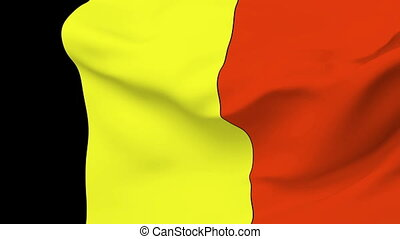 Flag of Belgium - Flag of the Belgium waving in the wind....