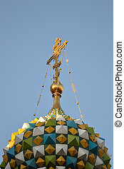 Dome and cross of Church of the Savior on Blood
