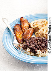 Traditional Cuban Meal - Traditional Cuban meal with sweet...