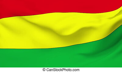 Flag of Bolivia - Flag of the Bolivia waving in the wind...