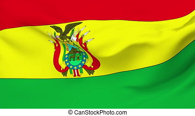 Flag of Bolivia - Flag of the Bolivia waving in the wind....
