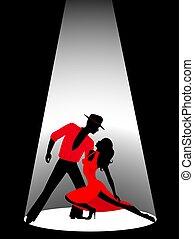 Pair dancing a tango