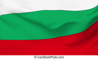 Flag of Bulgaria - Flag of the Bulgaria waving in the wind...