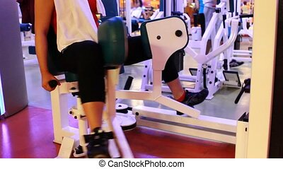girl doing sports in a gym 3