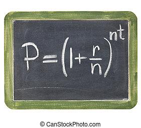 compuesto, interés, ecuación