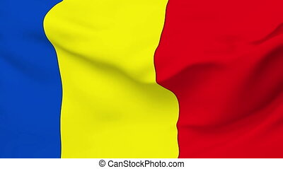 Flag of Chad - Flag of the Chad waving in the wind. Seamless...