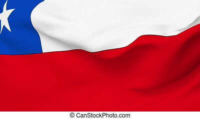 Flag of Chile - Flag of the Chile waving in the wind....