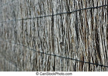 Brushwood fence background - Blured natural brushwood fence,...