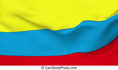 Flag of Colombia - Flag of the Colombia waving in the wind....
