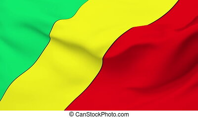 Flag of Congo - Flag of the Congo waving in the wind...