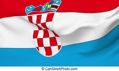 Flag of Croatia - Flag of the Croatia waving in the wind...