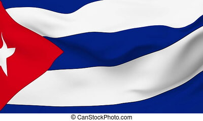 Flag of Cuba - Flag of the Cuba waving in the wind Seamless...