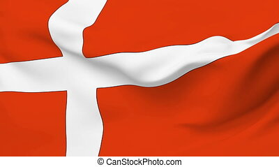 Flag of Denmark - Flag of the Denmark waving in the wind....