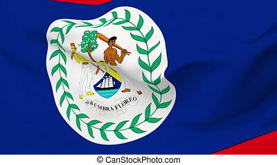 Flag of Belize - Flag of the Belize waving in the wind....