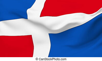 Flag of Dominican Republic - Flag of the Dominican Republic...