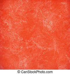 Stained red plaster wall