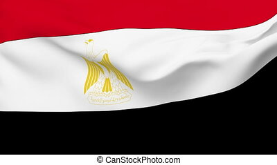 Flag of Egypt - Flag of the Egypt waving in the wind...